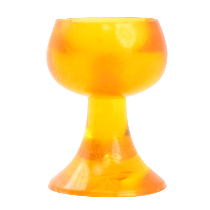 Vintage German Orange Wine Goblets  -  18 pcs - IV3-3514